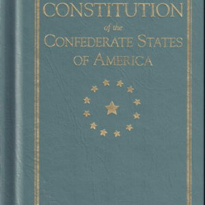 small hard back booklet of the confederate constitution