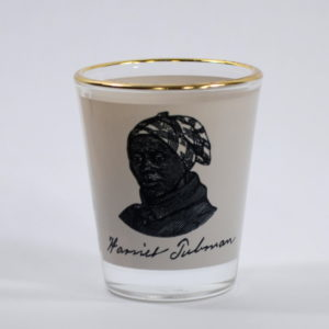 acwm-round-shot-glass-harriet-tubman-woodcut