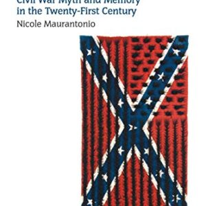 Cover of the book Confederate Exceptionalism: Civil War Myth and Memory in the Twenty-First Century. Cover has a white background with a picture of a flag. The flag is a rectangular Confederate TN battle flag with textured, braided hair woven in it to look like the US flag.